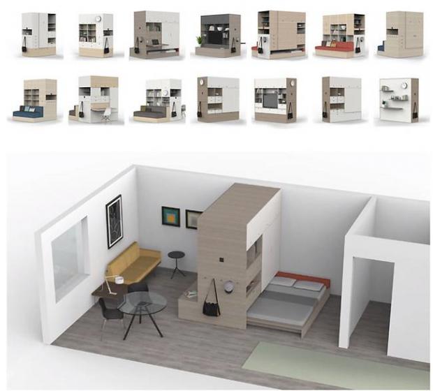 Tendencias: Ori reinventa la domótica metiendo todos tus muebles en esta caja robotizada