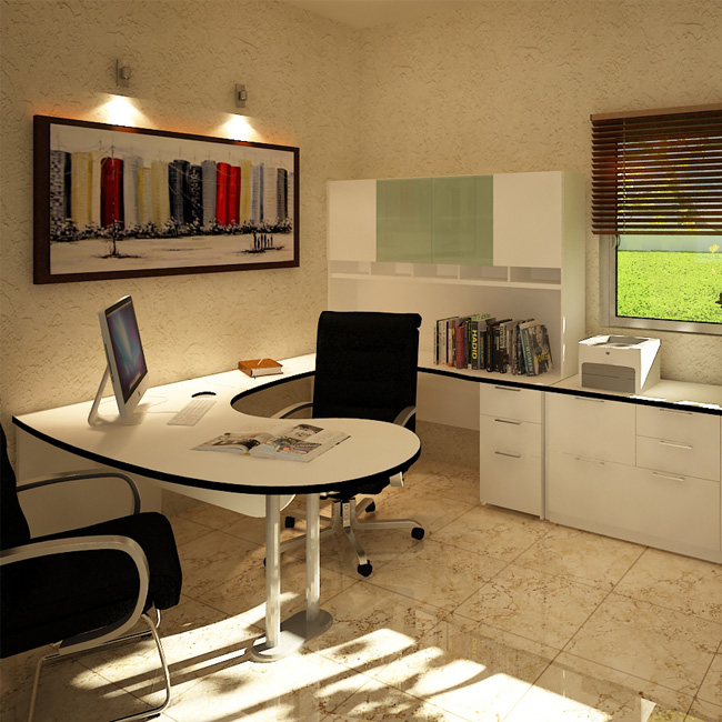 Escritorio de oficina haken basic 2 muebles de oficina for Escritorios y sillas para oficina