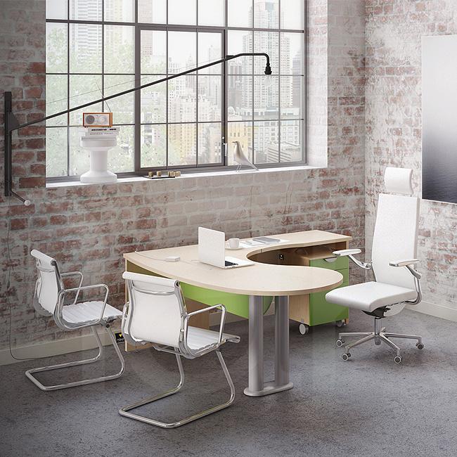 escritorio de oficina haken basic muebles de oficina