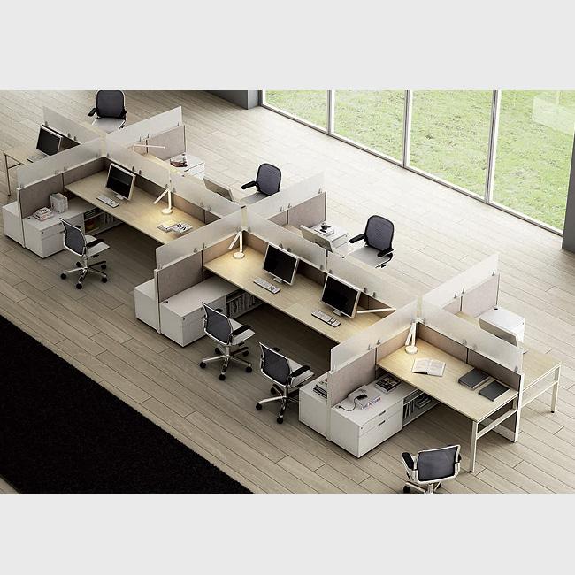 Escritorio modular tec60 2 muebles de oficina for Escritorio modular