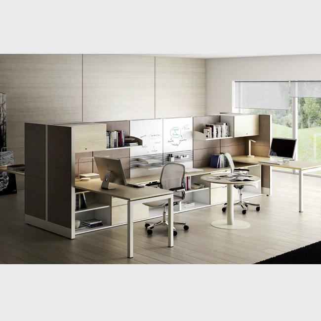 Escritorio modular tec60 3 muebles de oficina for Muebles para oficina 3