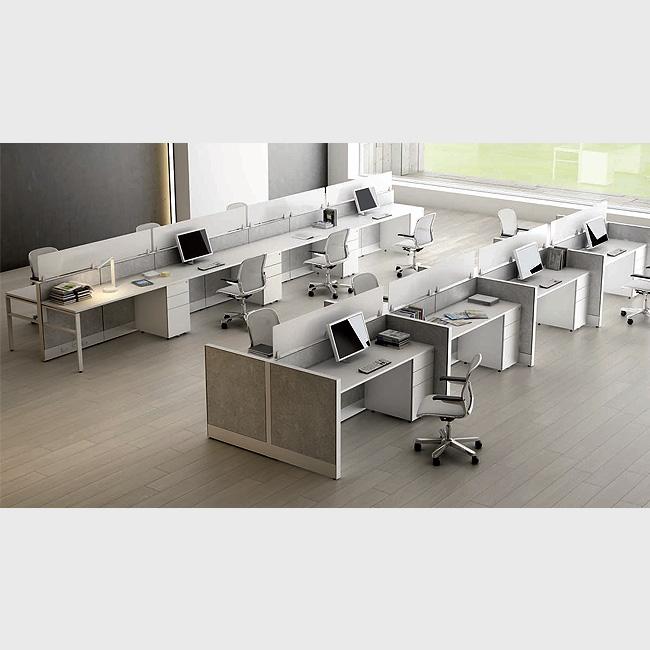 Escritorio modular tec60 4 muebles de oficina for Escritorio modular