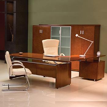 Escritorio ejecutivo tempo cristal muebles de oficina for Muebles oficina cristal