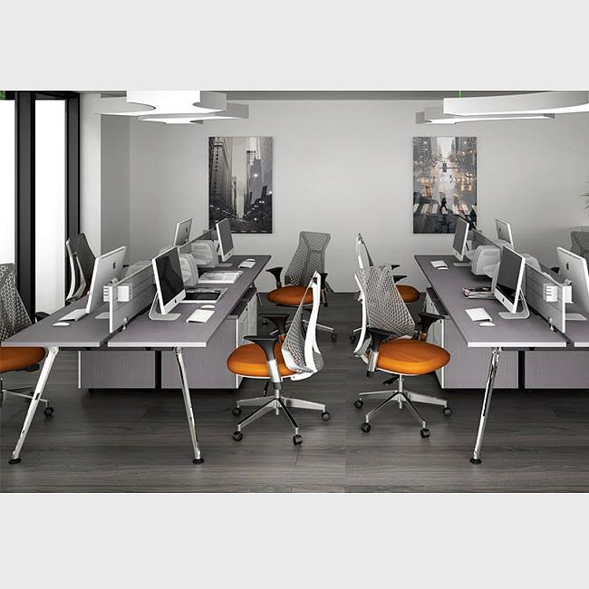 Escritorio bench z chrome muebles de oficina en for Muebles de oficina queretaro