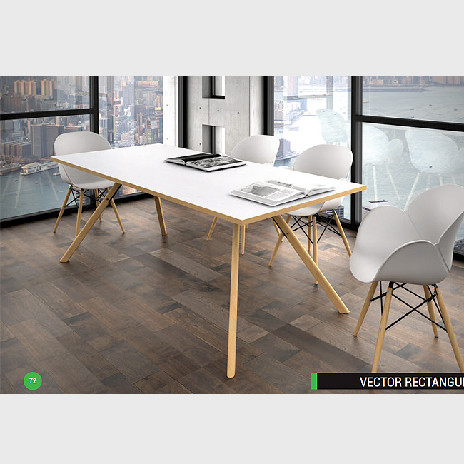 Mesa de juntas vector rectangular muebles de oficina for Mesas de juntas para oficina