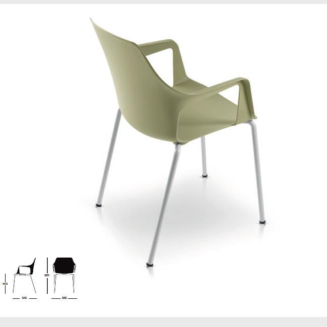 Silla de visita vesper1 muebles de oficina escritorios for Sillas para visitas
